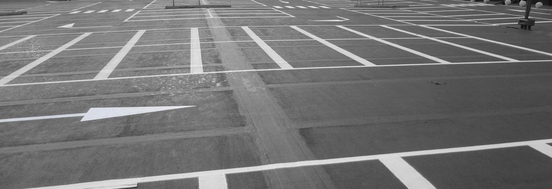 Belijnen-parkeergarage