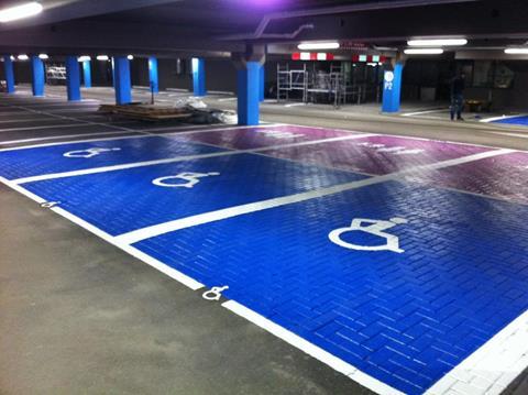 Invaliden-parkeerplaats