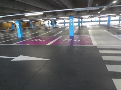 Parkeergarage-belijningen